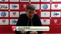 Réaction de Bernard Blaquart après Nîmes Olympique - Stade Brestois 29