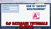 P(8) C# Access Database Tutorials In Urdu - How to Encrypt Data/Password