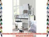 Venetian Mirrored Dressing Table /Console and Triple folding dressing table mirror