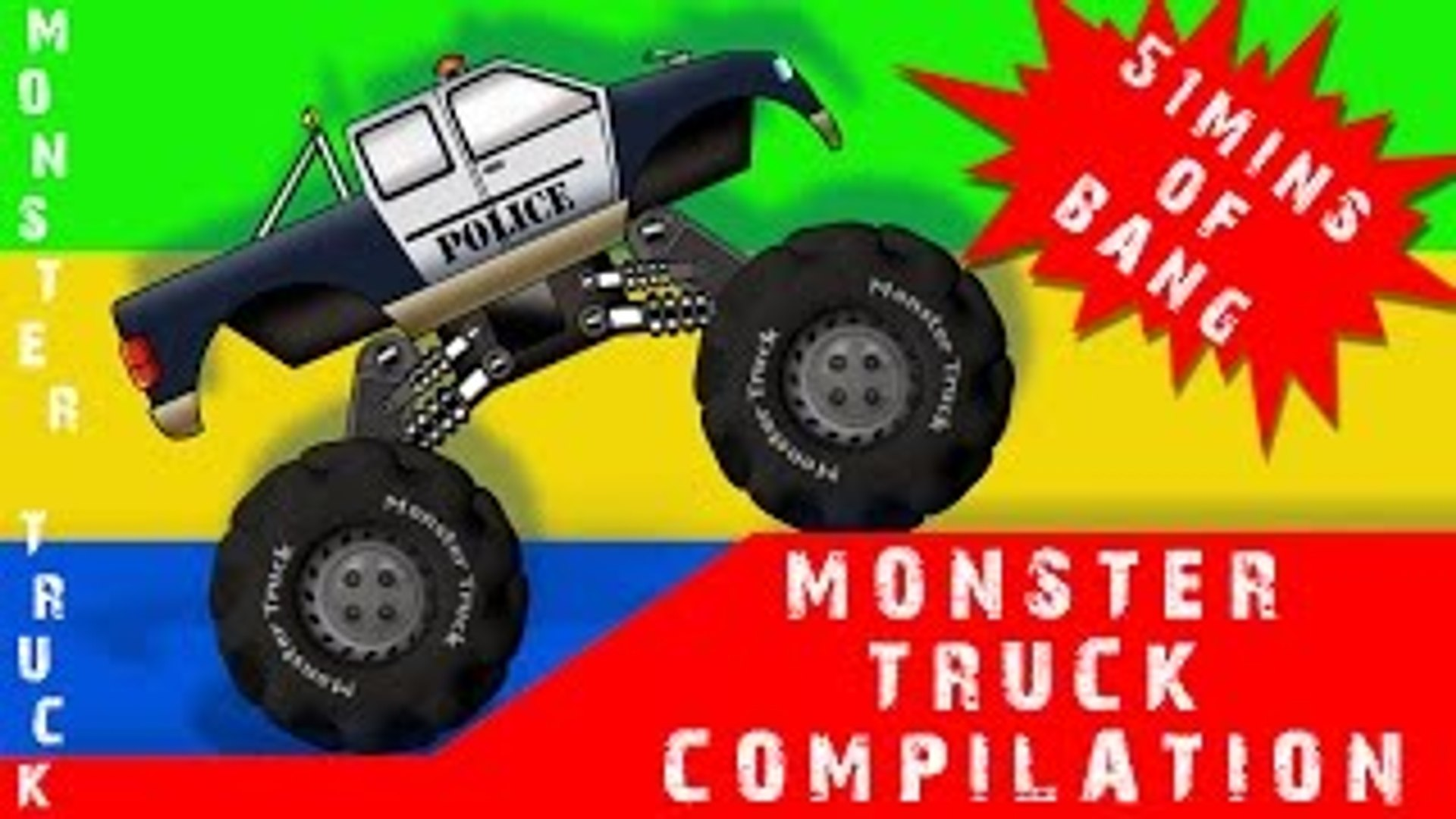 Kids Channel Monster Truck Compilation For Kids Dailymotion Video