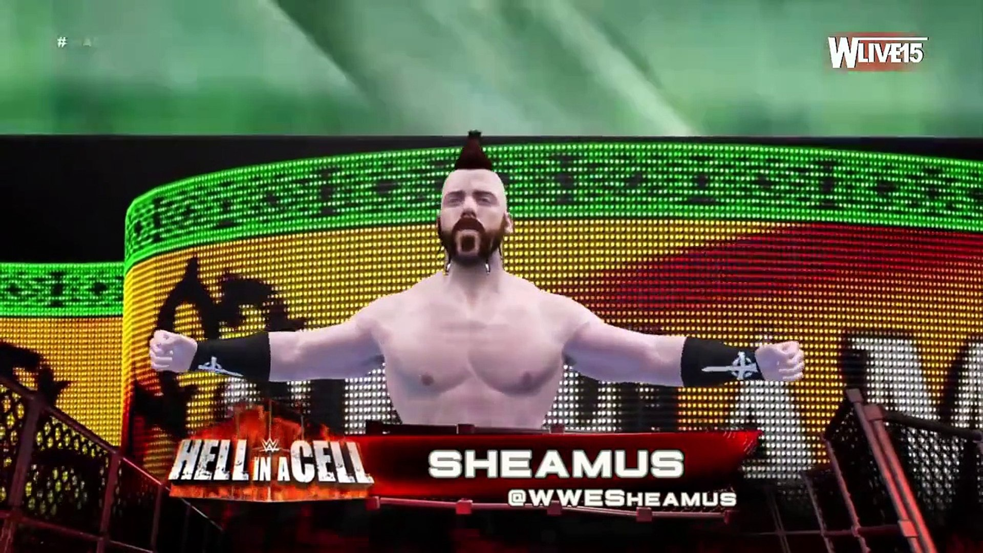 WWE Hell In a Cell Roman Reigns Vs Sheamus  WWE Hell In a Cell  WWE 2K16 Gameplay (HD)