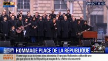 """""""Un dimanche de janvier"""", Johnny Hallyday chante en hommage aux victimes des attentats place de la République"""