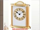 Seiko QHE092G Mantel Alarm Clock Gold