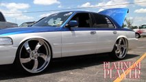 TWO TONE CROWN VIC on 26 INCH BILLETS- THE LONE STAR SERIES