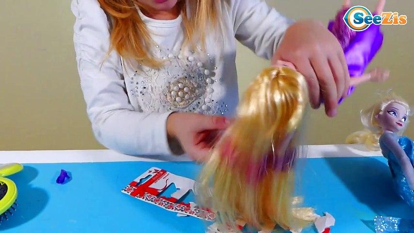 ✔ Рапунцель- Мерида, Анна и Эльза. Прически от Маши - Rapunzel Merida Anna and Elsa Disney princess