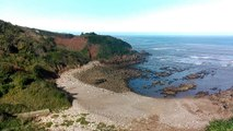 Playa de Rebolleres en Candás, Asturias 1 Nov