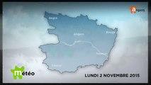 METEO NOVEMBRE 2015 [S.2015] [E.2] - Météo locale - Prévisions du lundi 2 novembre 2015