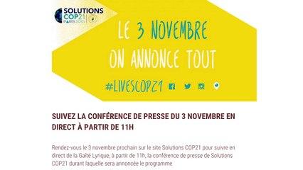 Live Conférence de Presse Solutions Cop21 #LiveScop21