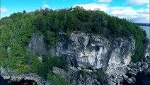 Drone Selfie at Lake Champlain in Burlington, Vermont