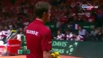 Full 3rd Set Stanislas Wawrinka vs Jo Wilfried Tsonga Davis Cup 2014 Final