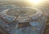 Aerial View of Apple Campus 2 Under Construction