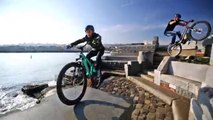 Bicycle Parkour stunts and street racing