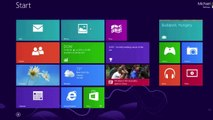 Windows 8.1 Start button in action (early preview Build, button will be static with animat
