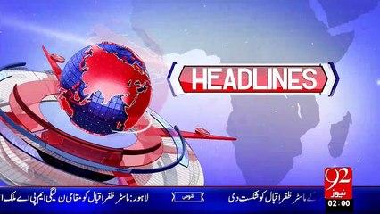 Headlines - 02:00 AM – 03 Nov 15 - 92 News HD