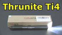ThruNite Ti4 252 lm Compact LED Penlight, Cool White Flashlight