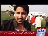 Airplane crash-lands at Lahore airport after landing gear malfunctions