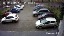 Le demi-tour le plus foireux du monde sur un parking !