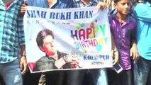 SRK's 50th Birthday -Shah Rukh Khan meets fans outside Mannat, is accompanied by son AbRam