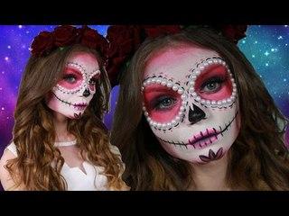 Pink Sugar Skull Makeup Tutorial ♥