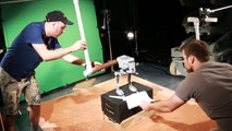 Star Wars Lego Destruction  - Behind the Scenes: Star Wars Lego AT-ST Walker Gets Obliterated by Swinging Logs