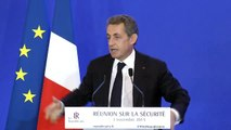 Discours de clôture de la Journée de travail sur la Sécurité par N Sarkozy - 3 novembre 2015