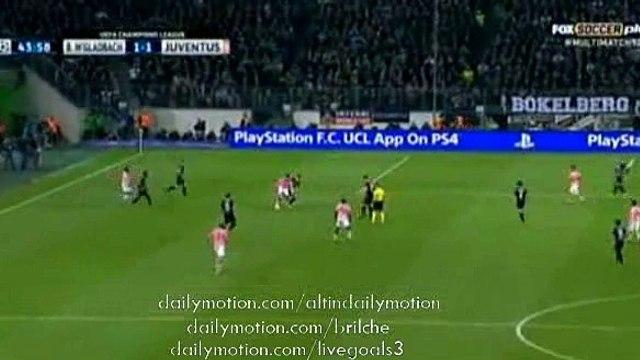 Super Goal Stephan Lichtsteiner Borussia Monchengladbach 1-1 Juventus Champions League 11.03.2015