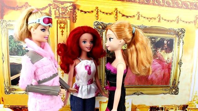 Will Frozen Anna & Kristoff Kiss? Will Ariel The Little Mermaid & Merman Kiss? With Barbie