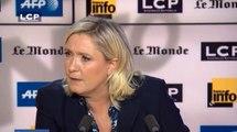 Selon Marine Le Pen, Bachar al-Assad n'est pas un barbare