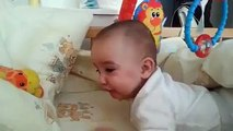 Baby laughing on his own fart