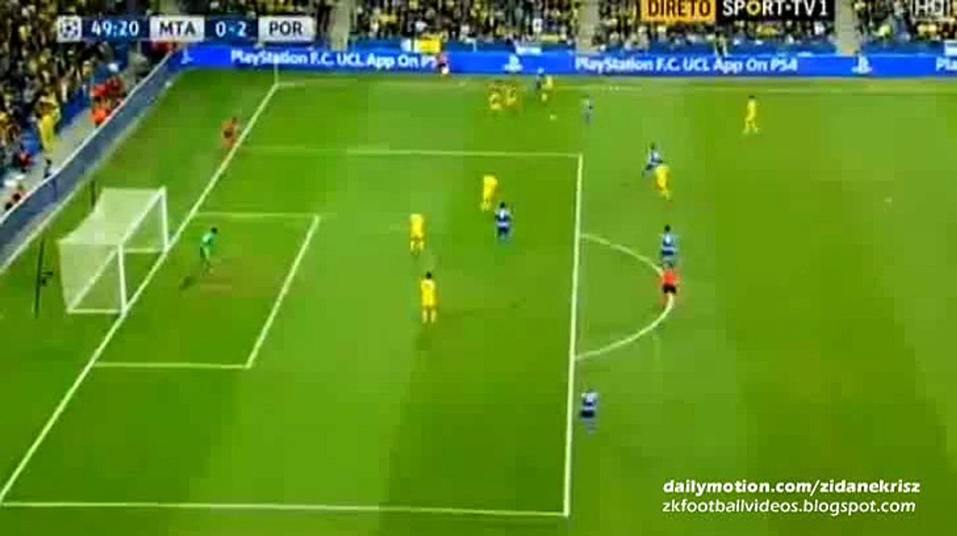 0-2 Andre Andre Great GOAL - Maccabi Tel Aviv v. FC Porto 04.11.2015 HD