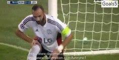 Miralem Pjanić Goal AS Roma 3 - 2 Leverkusen Champions League 4-11-2015