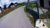High Speed Moped Crash  Racing Fail