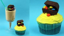 PIRATE CUPCAKE Pirates of the Caribbean treasure chest cupcakes with M&Ms how to crafty ba