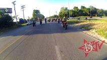Motorcycle ACCIDENT Street Bike CRASHES Rear Ends Biker Attempting Wheelie FAIL Blox Starz