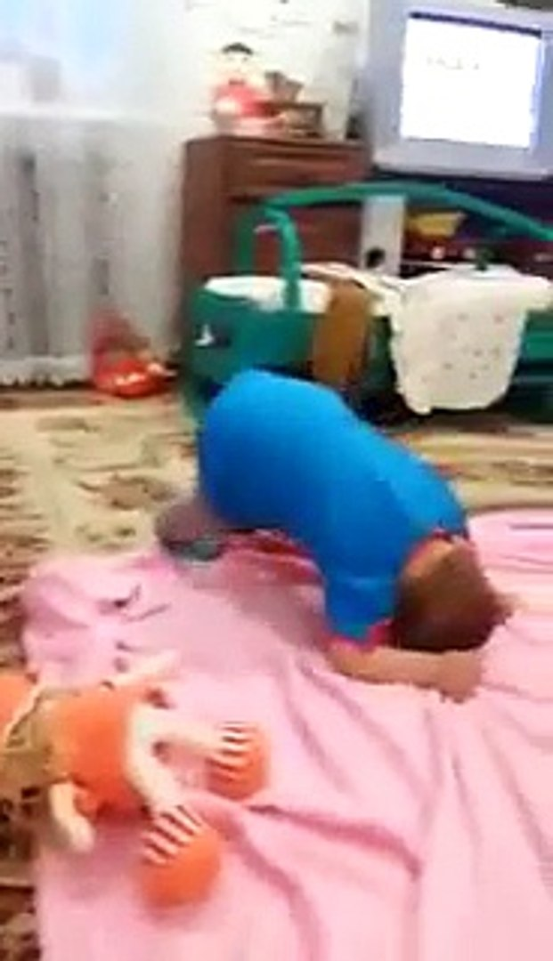 Cute Kid Playing with Cat