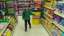 New Toys Shopping Video Nerf Lego Dolls Eggs or Play Doh | Arcadius Kul