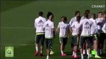 Cristiano Ronaldo And Marcelo Having Fun In Real Madrid Training 18/09/2015