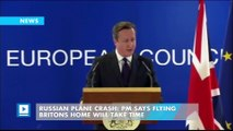 Russian plane crash: PM says flying Britons home will take time