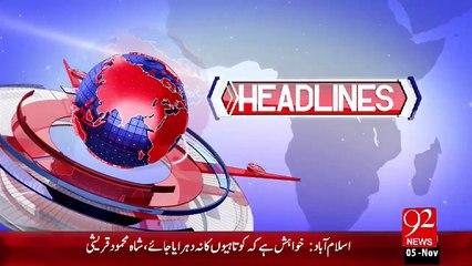 Headlines - 06:00 PM – 05 Nov 15 - 92 News HD