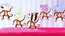 5 little Monkeys jumping on the bed 5 little monkeys Peppa Pig farting and Jumping on the Bed