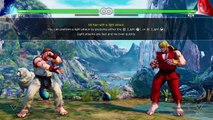 STREET FIGHTER V (BETA) Tutorial with Alpha Ryu and Ken with Gouken