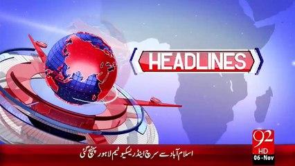 Headlines - 04:00 AM – 06 Nov 15 - 92 News HD