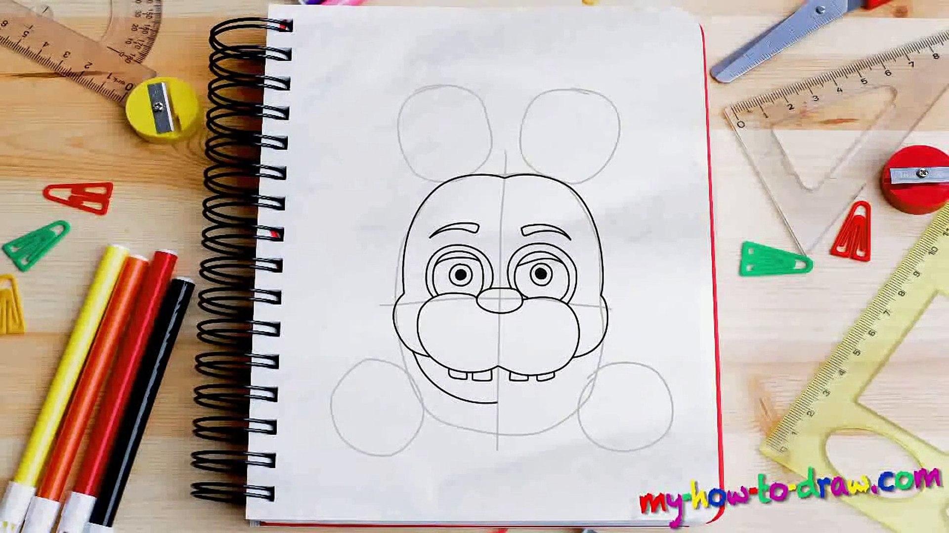 Fnaf 2 Drawings drawing tutorial fnaf how to draw bonnie