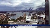 Un impressionnant mur de nuages à Sydney