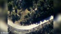 Images aériennes des bombardements russes en Syrie
