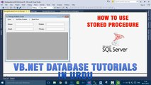 P(2) VB.NET Database Tutorials In Urdu - How to use Stored Procedure