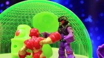 Ion Alien Headquarters Imaginext Superman and The Flash Fight Alien with Batman Super Over