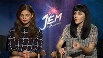 Aubrey Peeples & Stefanie Scott Interview Jem and the Holograms (2015)