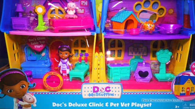 DOC MCSTUFFINS Disney Doc McStuffins Deluxe Clinic Pet Vet Doc McStuffins Video Toy Unboxi