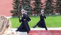 Relève de la garde Kremlin Moscou Oct 15